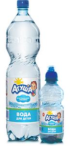 Вода питьевая для детского питания  «Агуша» негазированная